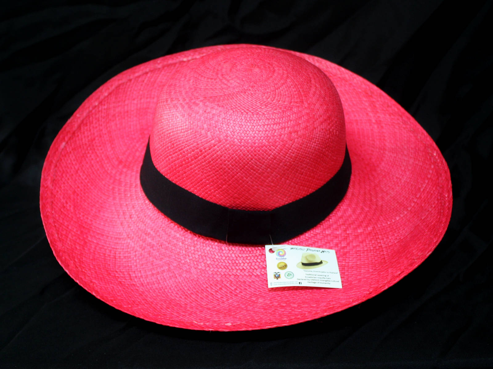 Trendy Lady Panama Hat- Classic Coconut style PINK