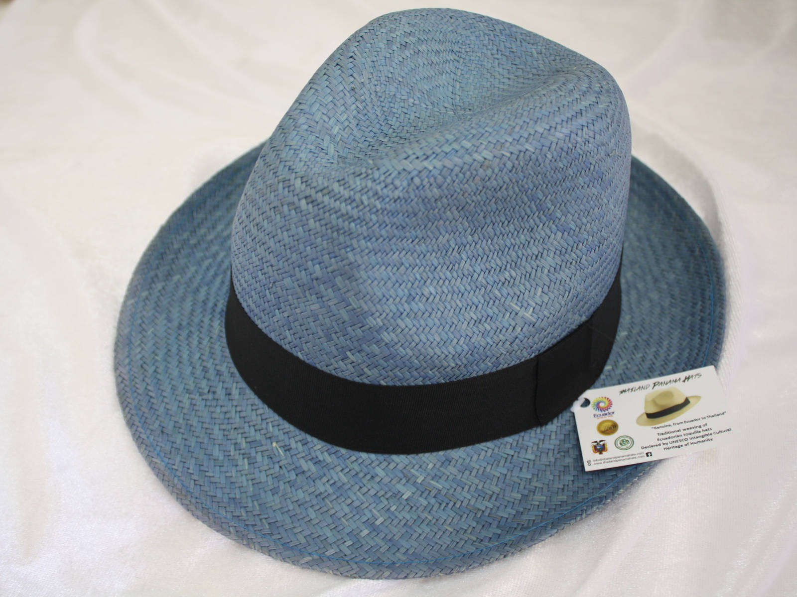 Trendy colour Panama Hat - Classic Briza Wave Grey