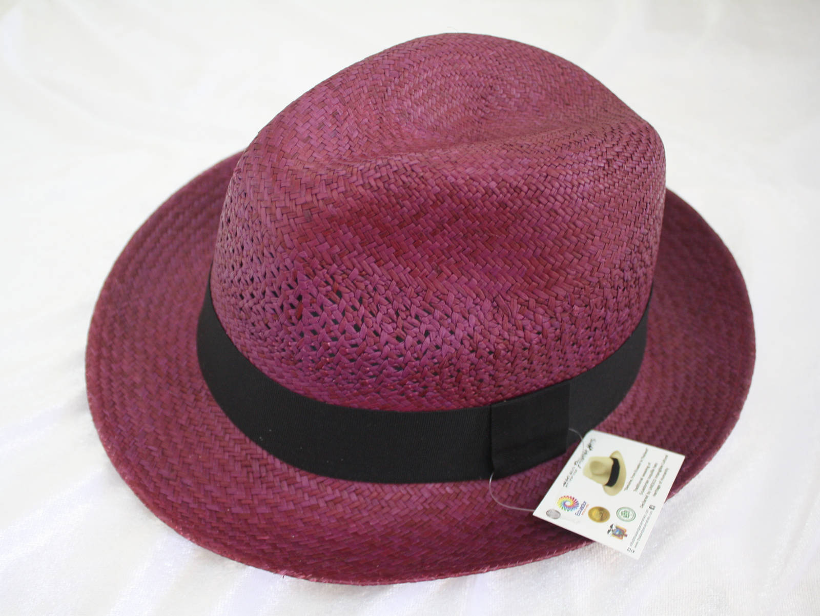 Trendy colour Panama Hat - Classic Briza Wave Purple